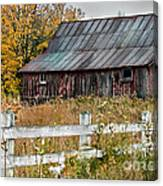 Rustic Berkshire Barn Canvas Print