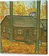 Rustic Cabin At Lake Hope Ohio Canvas Print