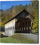 Rustic Covered Bridge Canvas Print