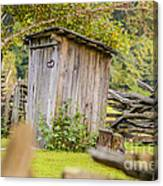 Rustic Fence And Outhouse Canvas Print