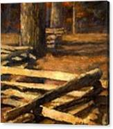 Rustic Fence Canvas Print