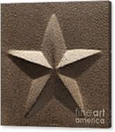 Rustic Five Point Star Canvas Print