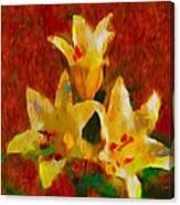 Rustic Lilies 2 Canvas Print