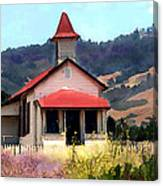 Rustic Old Schoolhouse Near San Simeon California Canvas Print
