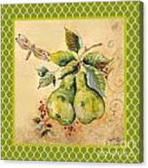 Rustic Pears On Moroccan Canvas Print
