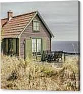 Rustic Seaside Cottage Canvas Print
