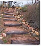 Rustic Stairway Canvas Print