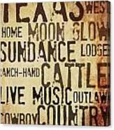 Rustic Texas Art Canvas Print