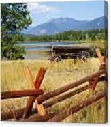 Rustic Wagon Canvas Print