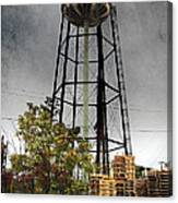 Rustic Water Tower Canvas Print