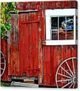 Rustic Window Pane Canvas Print