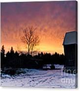 Rustic Winter Sunrise Canvas Print