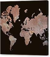Rustic World Map Canvas Print