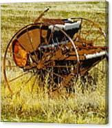 Rusting Farm Equipment Canvas Print