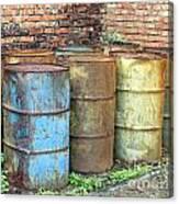 Rusting Oil Barrels Canvas Print