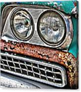 Rusty 1959 Ford Station Wagon - Front Detail Canvas Print