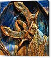 Rusty Anchor Canvas Print