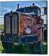 Rusty Autocar Canvas Print