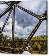 Rusty Bridge In Fall Canvas Print