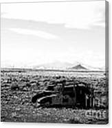 Rusty Car 3 - Black And White Canvas Print