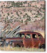Rusty Chevrolet Special Deluxe In Manila Utah Canvas Print