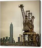 Rusty Cranes At Battersea Power Station Canvas Print