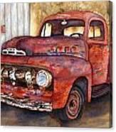 Rusty Crusty Ford Truck Canvas Print