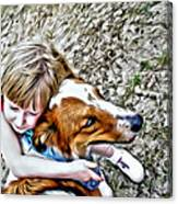 Rusty Dog Love Canvas Print