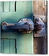 Rusty Door Latch Canvas Print