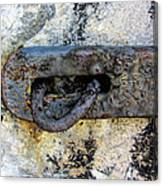 Rusty Dusty And Grimy Lock Plate Canvas Print