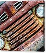 Rusty Ford Grill Canvas Print