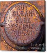 Rusty Gas Tank Cap Canvas Print