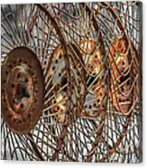 Rusty Hay Rake Canvas Print