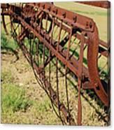 Rusty Hay Rake Canvas Print
