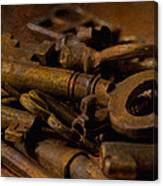 Rusty Keys Canvas Print
