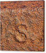 Rusty Letters Usa Canvas Print