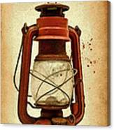 Rusty Old Lantern On Aged Textured Background E59 Canvas Print