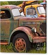 Rusty Old Trucks Canvas Print
