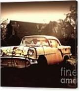Rusty Oldsmobile Canvas Print