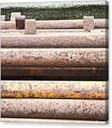 Rusty Pipes Canvas Print