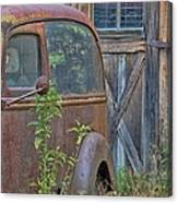 Rusty Vintage Ford Panel Truck Canvas Print