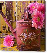 Rusty Watering Can Canvas Print