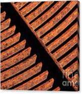 Rusy Grate Canvas Print