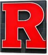 Rutgers Block R Canvas Print