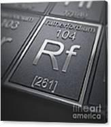 Rutherfordium Chemical Element Canvas Print