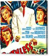 Ruthless, Us Poster, Zachary Scott Canvas Print