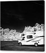 Rv Camping Van Parked At Valley Of Fire State Park Nevada Usa Canvas Print