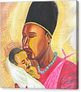Rwandan Maternal Kiss Canvas Print