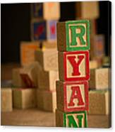 Ryan - Alphabet Blocks Canvas Print