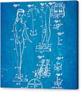 Ryan Barbie Doll Patent Art 1961 Blueprint Canvas Print